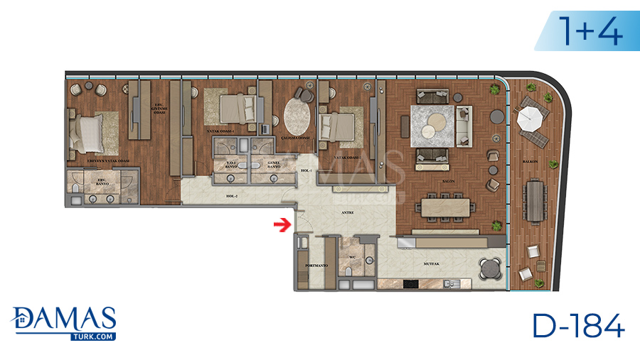 Damas Project D-184 in Istanbul - Floor plan picture  06