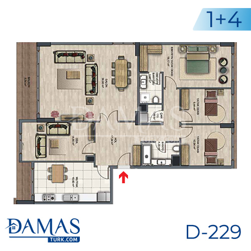 Damas Project D-229 in Istanbul - Floor plan picture  06