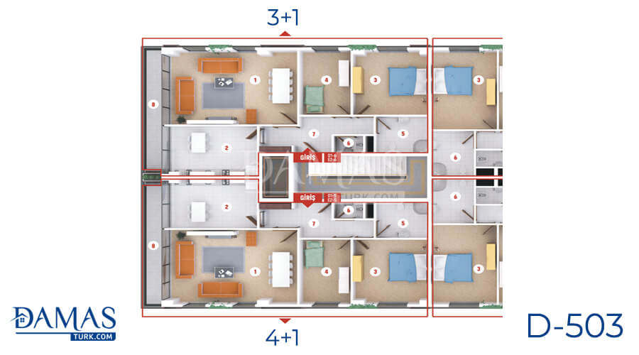 Damas Project D-503 in Kocaeli - Floor plan picture  06