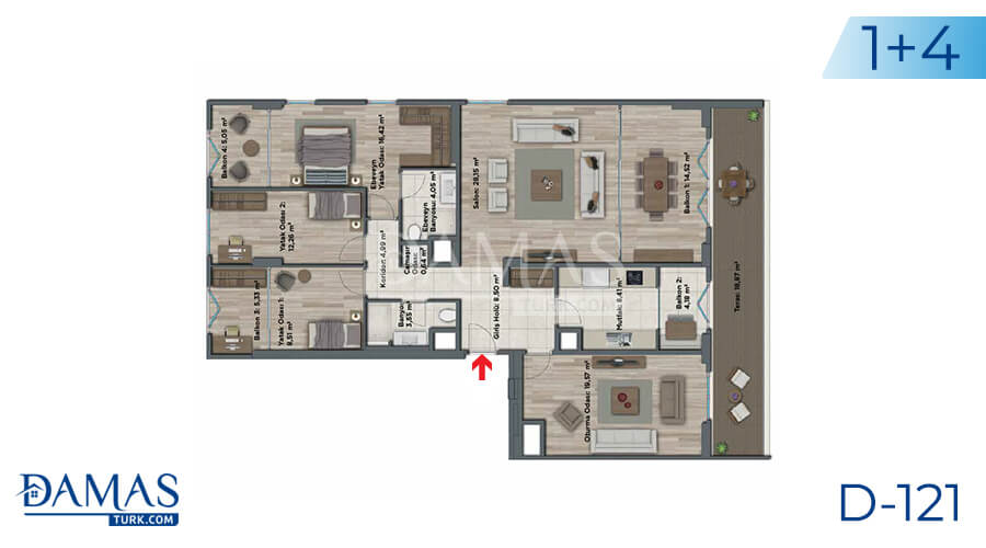 Damas Project D-121 in Istanbul - Floor plan picture 06