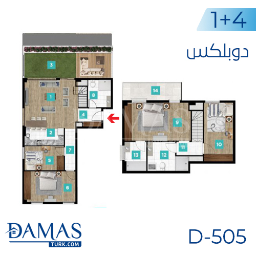Damas Project D-505 in kocaeli - Floor plan picture  06