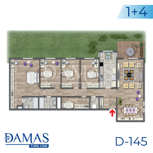 Damas Project D-145 in Istanbul - Floor plan picture 06