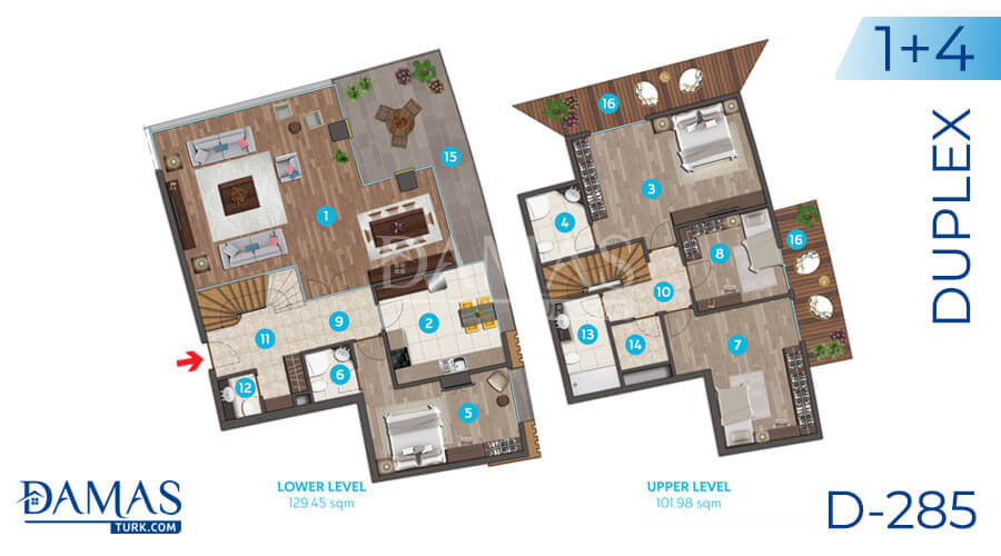 Damas Project D-285 in Istanbul - Floor plan picture 06