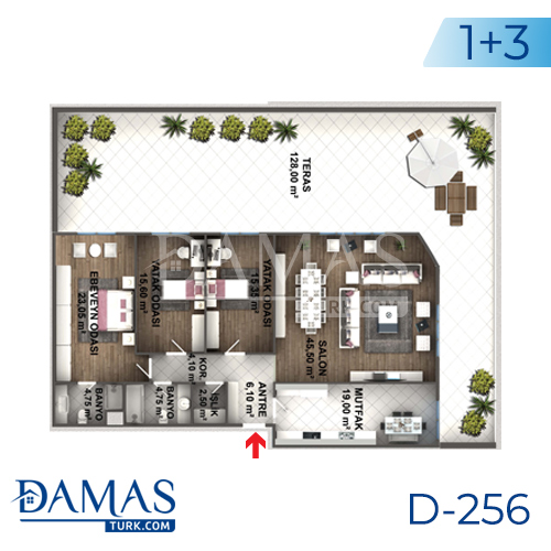 Damas Project D-256 in Istanbul - Floor plan picture 06