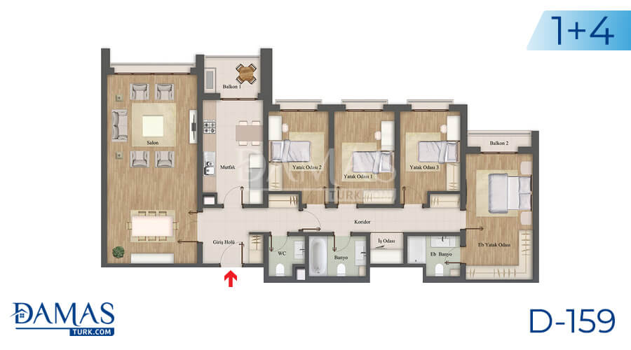 Damas Project D-159 in Istanbul - Floor plan picture 06