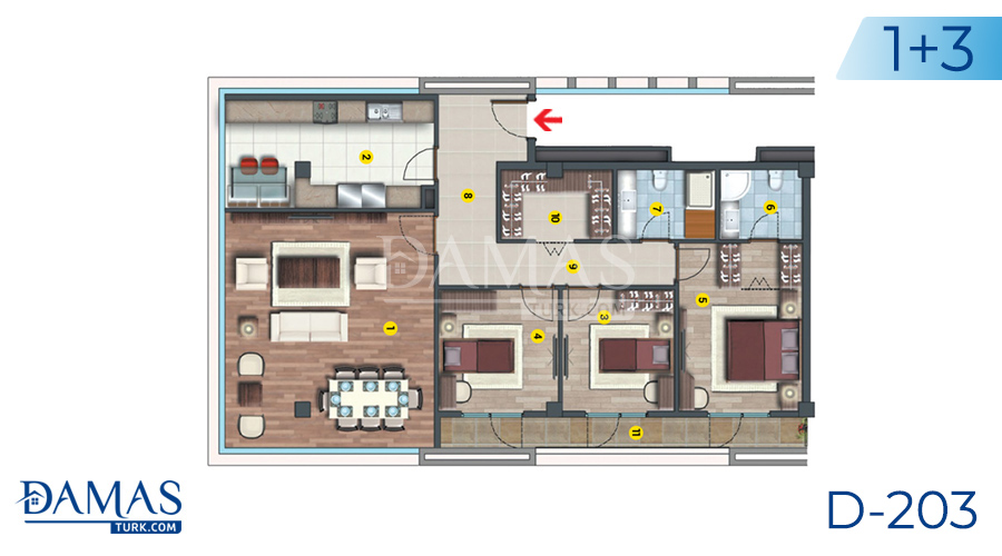 Damas Project D-203 in Istanbul - Floor plan picture  06
