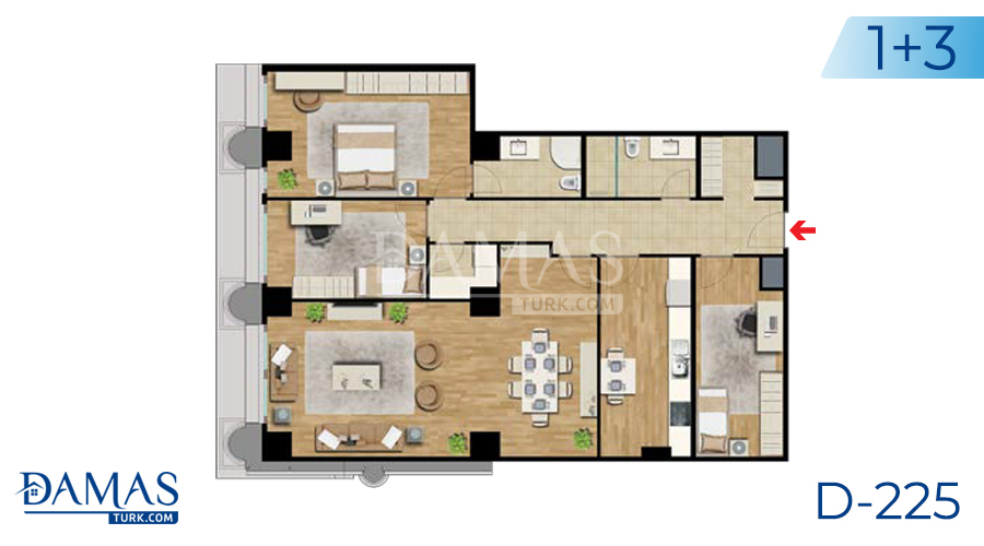 Damas Project D-225 in Istanbul - Floor plan picture  06