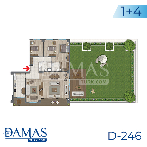 Damas Project D-246 in Istanbul - Floor plan picture 06