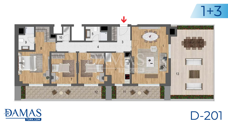 Damas Project D-201 in Istanbul - Floor plan picture  06
