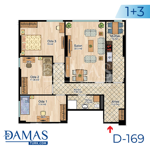Damas Project D-169 in Istanbul -Floor plan picture  06