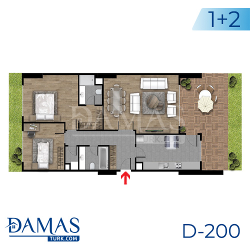 Damas Project D-200 in Istanbul - Floor plan picture  06