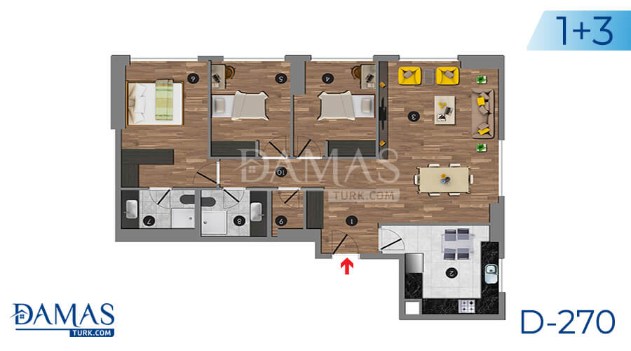 Damas Project D-270 in Istanbul - Floor plan picture 06