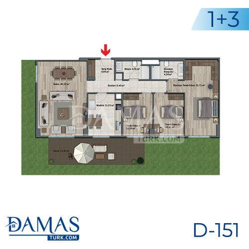 Damas Project D-151 in Istanbul - Floor plan picture 06
