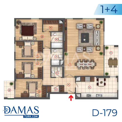 Damas Project D-179 in Istanbul - interior picture  06