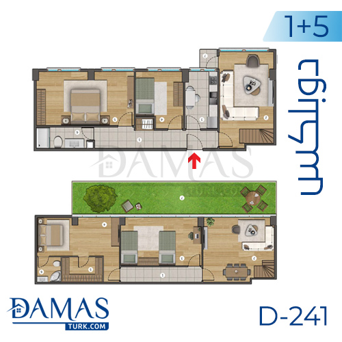 Damas Project D-241 in Istanbul - Floor plan picture  06