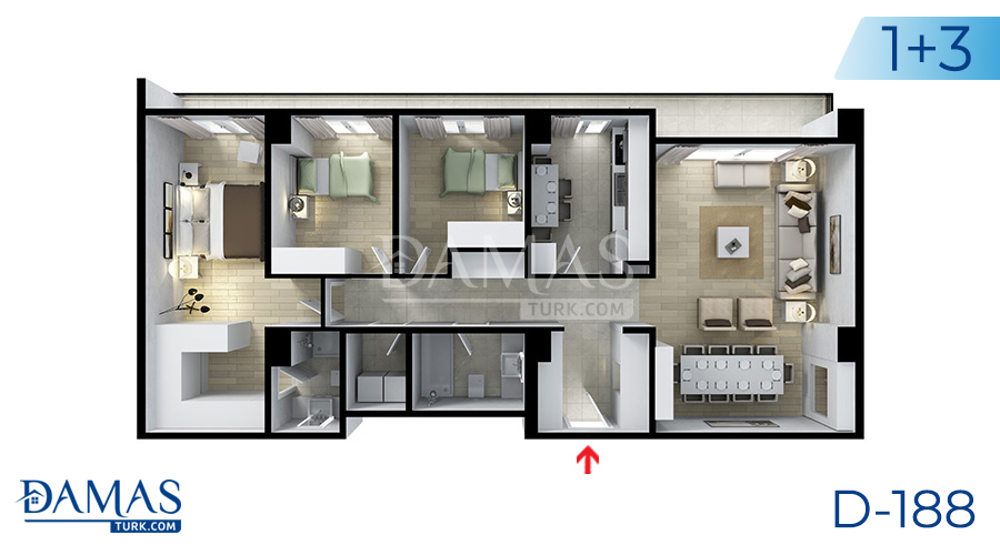 Damas Project D-188 in Istanbul - Floor plan picture  06
