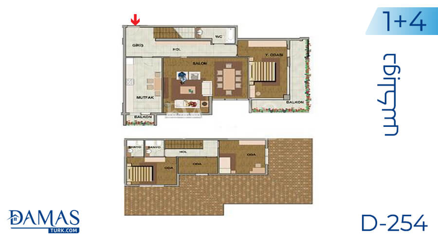 Damas Project D-254 in Istanbul - Floor plan picture 06
