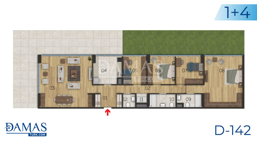 Damas Project D-142 in Istanbul - Floor plan picture 06