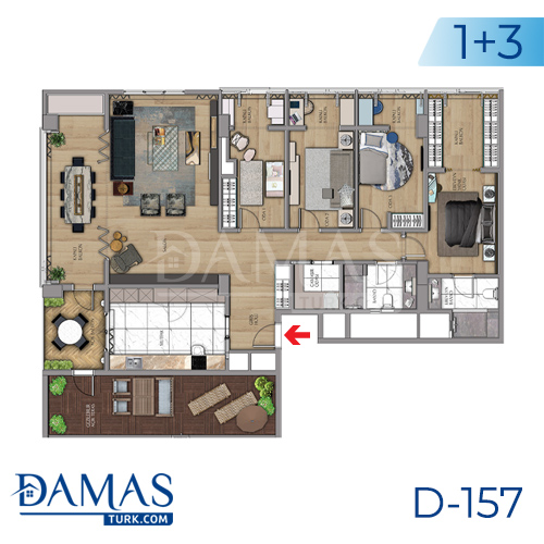 Damas Project D-157 in Istanbul - Floor plan picture 06
