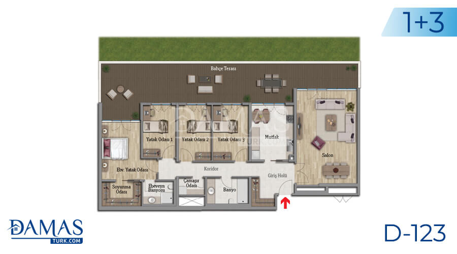 Damas Project D-123 in Istanbul - Floor plan picture 06