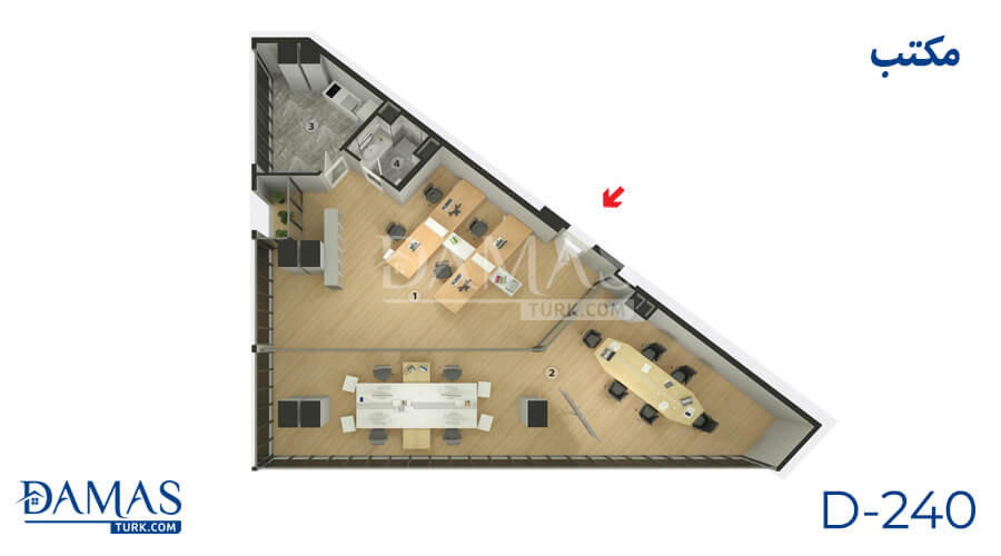 Damas Project D-240 in Istanbul - Floor plan picture  06