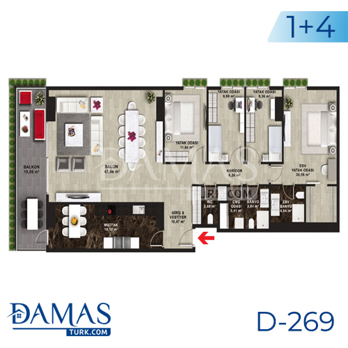 Damas Project D-269 in Istanbul - Floor plan picture 06
