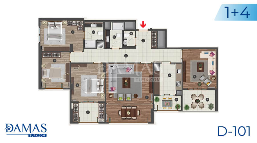 Damas Project D-101 in Istanbul - Floor plan picture 06