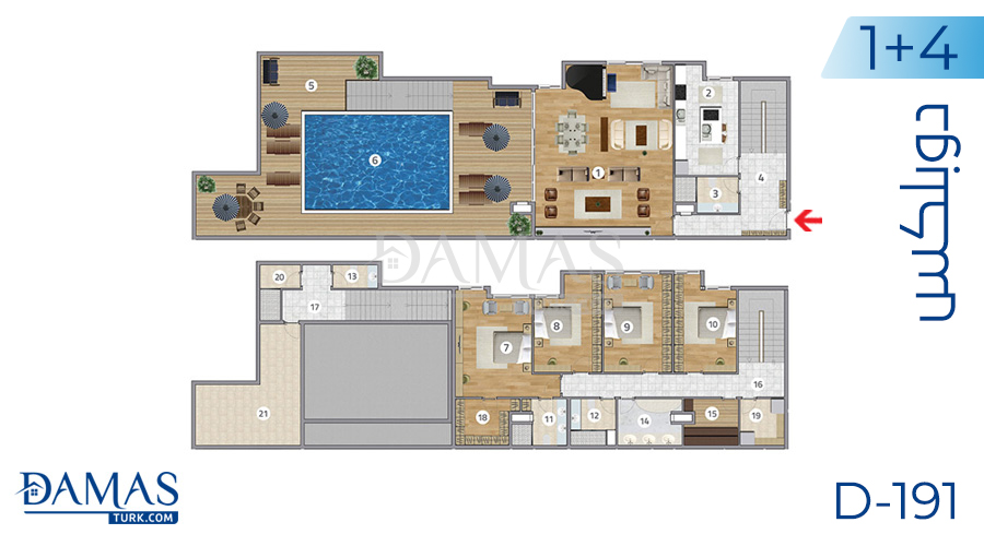Damas Project D-191 in Istanbul - Floor plan picture  06