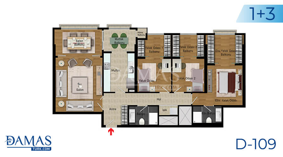Damas Project D-109 in Istanbul - Floor plan picture 06