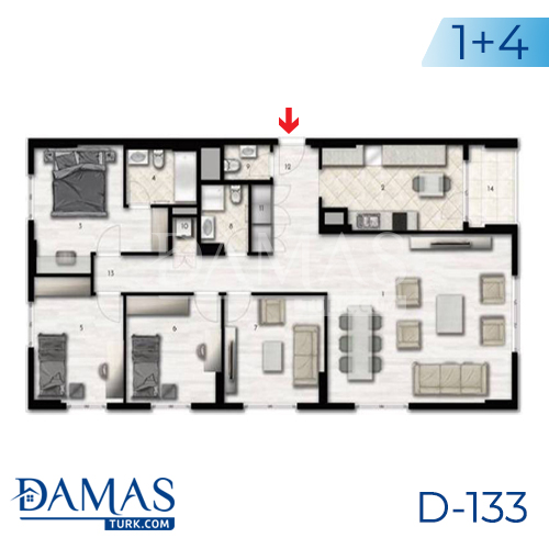 Damas Project D-133 in Istanbul - Floor plan picture 06