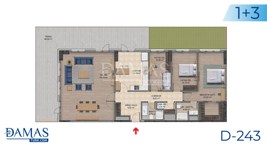 Damas Project D-243 in Istanbul - Floor plan picture  06