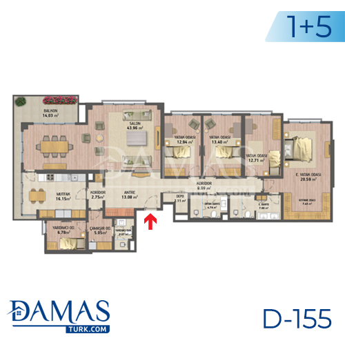 Damas Project D-155 in Istanbul - Floor plan picture 06
