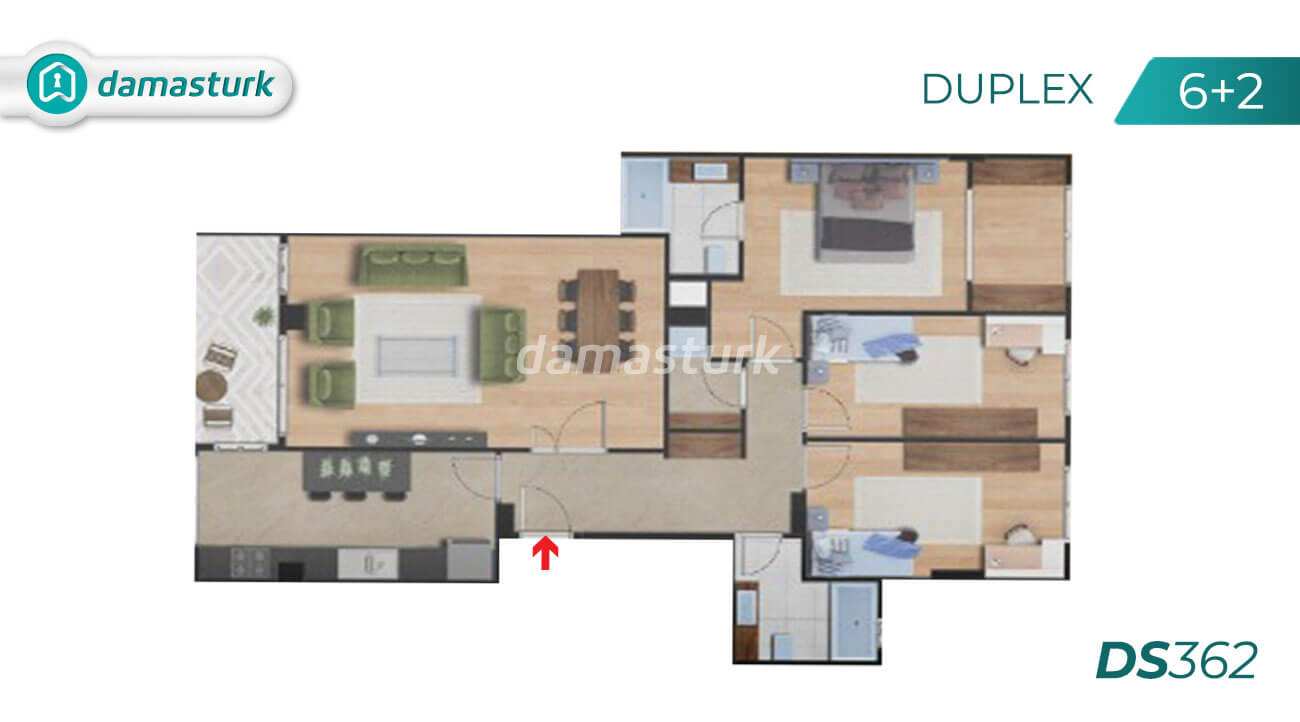 Apartments for sale in Turkey - Istanbul - the complex DS362  || damasturk Real Estate Company 06