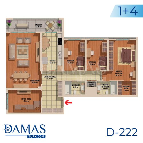 Damas Project D-222 in Istanbul - Floor plan picture  06