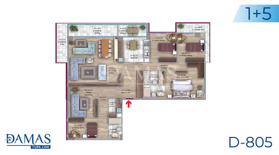 Damas Project D-805 in Istanbul - Floor plan picture 06