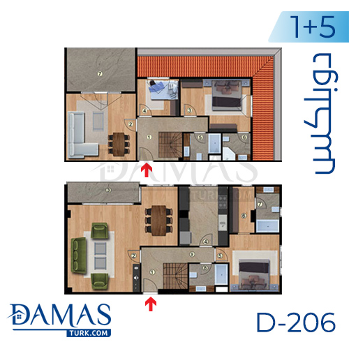 Damas Project D-206 in Istanbul - Floor plan picture 06