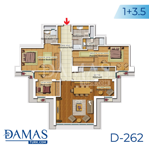 Damas Project D-262 in Istanbul - Floor plan picture 06