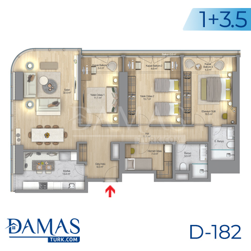 Damas Project D-182 in Istanbul - Floor plan picture  06