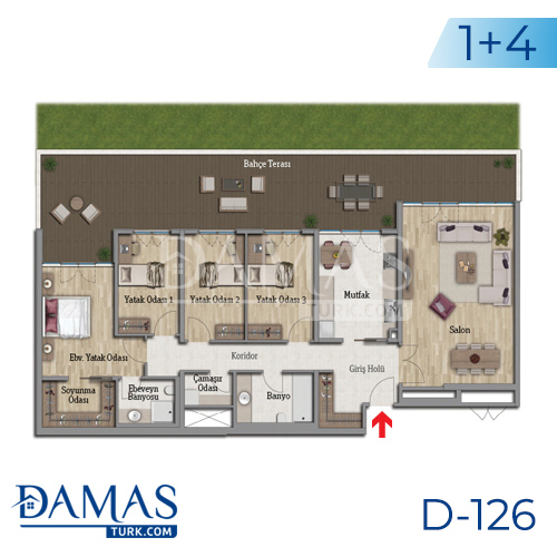 Damas Project D-126 in Istanbul - Floor plan picture 06
