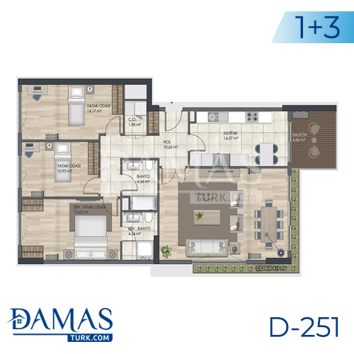 Damas Project D-251 in Istanbul - Floor plan picture 06