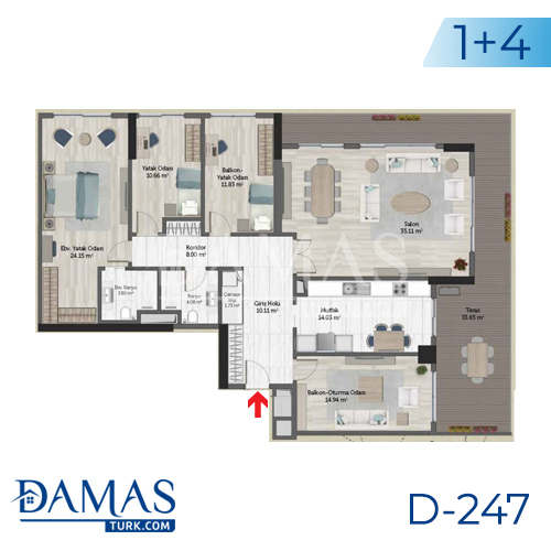 Damas Project D-247 in Istanbul - Floor plan picture 07