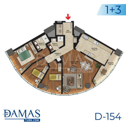 Damas Project D-154 in Istanbul - Floor plan picture 07