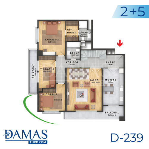 Damas Project D-239 in Istanbul - Floor plan picture  07