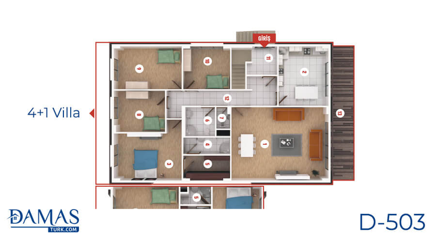 Damas Project D-503 in Kocaeli - Floor plan picture  07