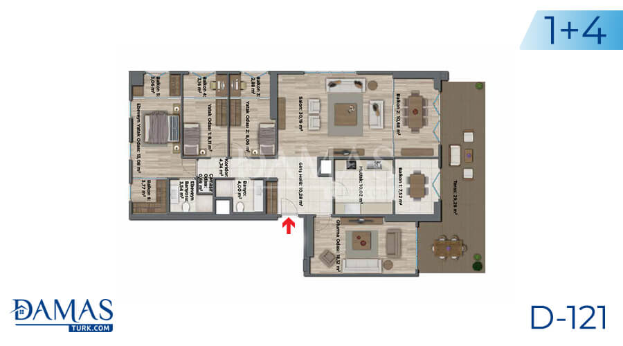 Damas Project D-121 in Istanbul - Floor plan picture 07