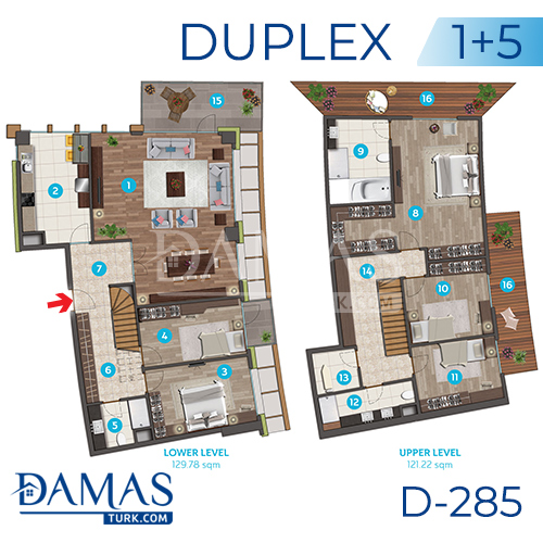 Damas Project D-285 in Istanbul - Floor plan picture 07