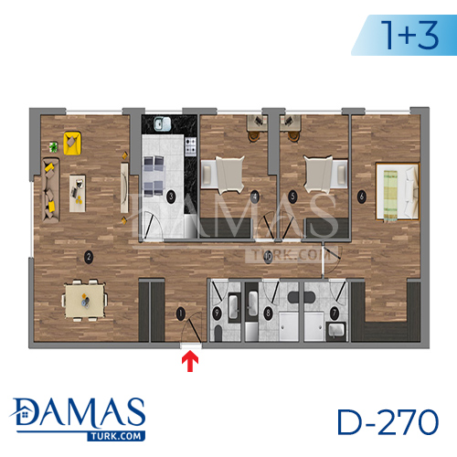 Damas Project D-270 in Istanbul - Floor plan picture 07