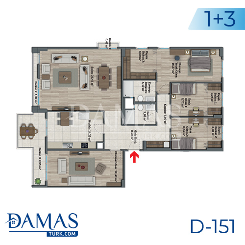Damas Project D-151 in Istanbul - Floor plan picture 07