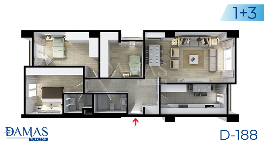 Damas Project D-188 in Istanbul - Floor plan picture  07