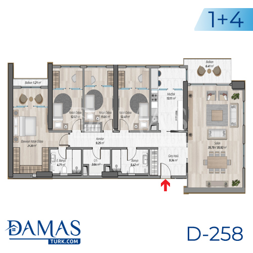 Damas Project D-258 in Istanbul - Floor plan picture 07